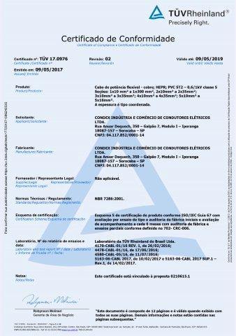CABO RIGIDO ISOLADO HEPR 061KV CLASSE 2 NBR 7286