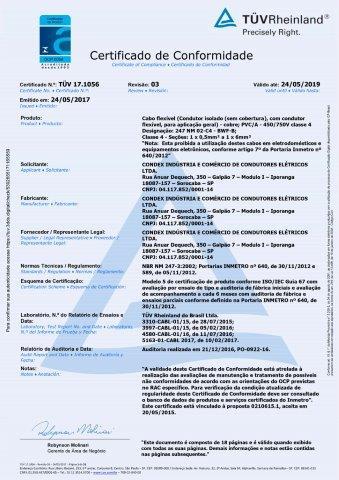 TUV 18.0995 FLEXATOX UNIPOLAR 450 750V C4 REV00