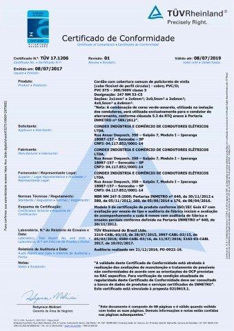 TUV 19.0586 CABO FLEXIVEL 450 750V C4 REV01