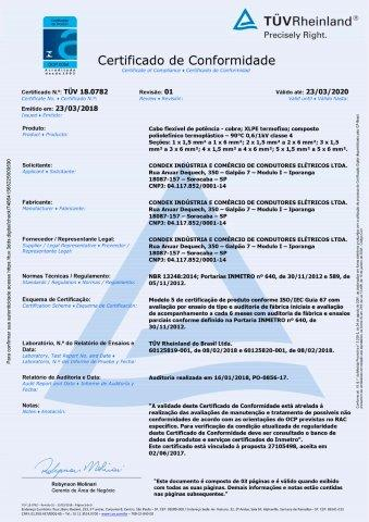 TUV 19.0587 CABO FLEXIVEL 450 750V c5 rev01
