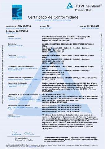 TUV 19.0589 CABO PP 300 500V C5 REV00
